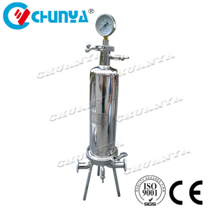 Stainless Steel Customized Water Purifier Single Cartridge Filter