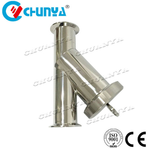 Industrial Valve Sanitary Y-Type Stainless Steel Strainer Tube Water Filter for Oil