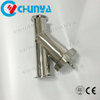 Industrial Valve Sanitary Y-Type Stainless Steel Water Filter Housing