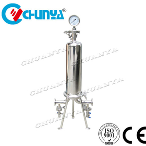 Industrial Multi Stage High Quality Stainless Steel Polished Single Cartridge Filter Housing