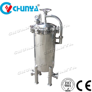 China Stainless Steel Multi Bag Filter Housing Reverse Osmosis RO Water Treatment System