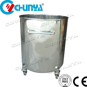 Stainless Steel Polished Mobile Storage Tank