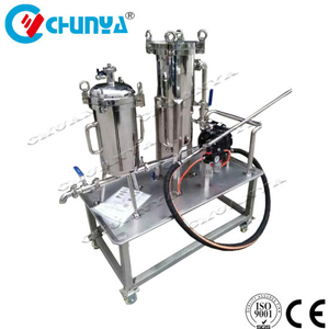 Industrial Stainless Steel Customized Bag Filter Housing with Warer Pump
