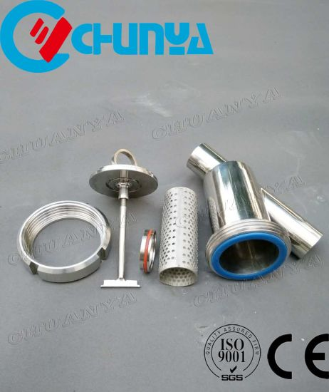 Valve Sanitary Y-Type Stainless Steel Polished Water Filter Housing