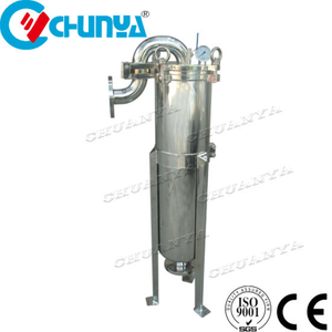 High Flow Rate Stainless Steel Top Entry Bag Filter Housing