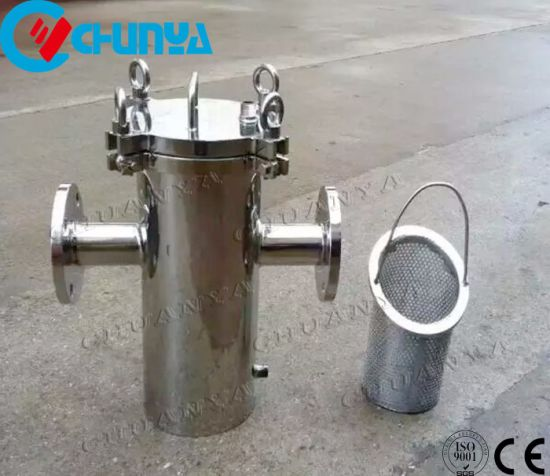 Basket Type Filter Housing for Waste Water System
