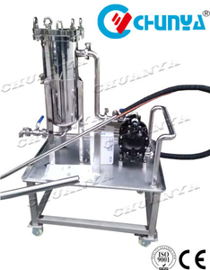 Sanitary Stainless Steel Polished Movable Bag Filter with Water Pump